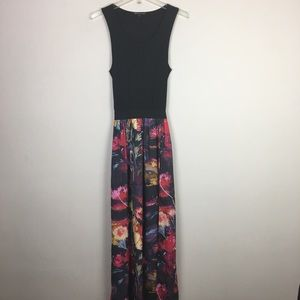 Felicity & coco floral maxi dress with back cutout